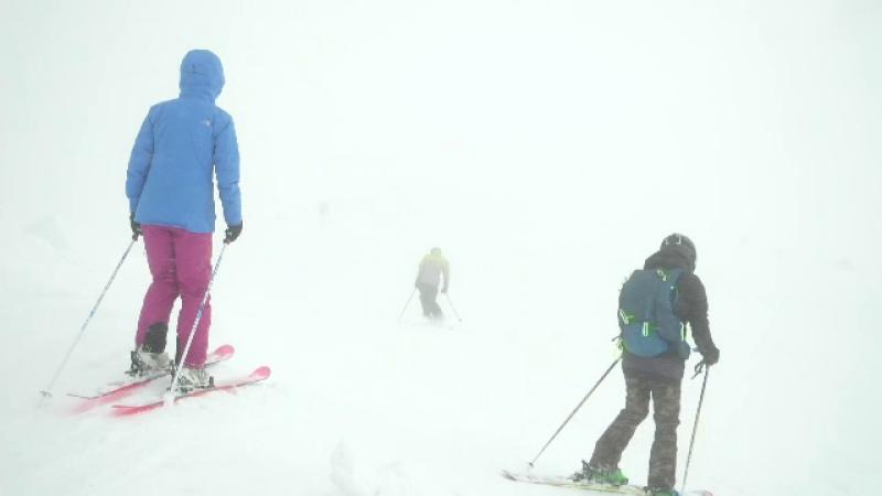 munte, schi