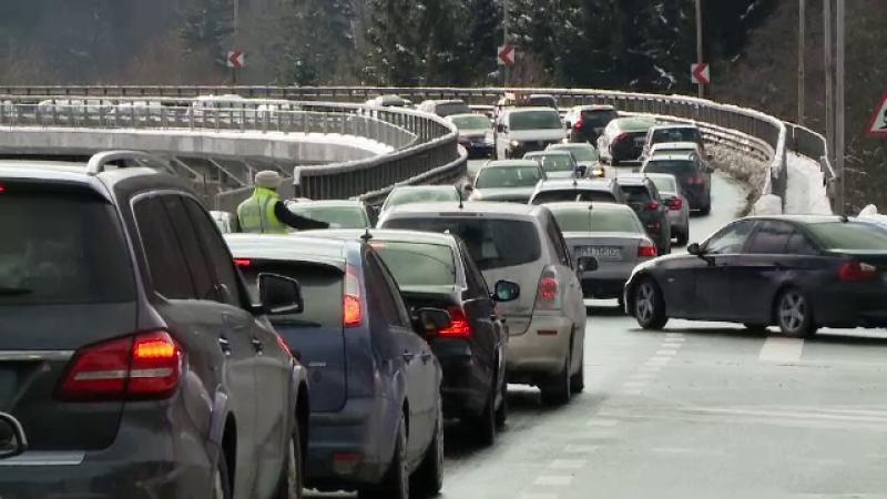 Coșmarul șoferilor care se întorc acasă de la munte