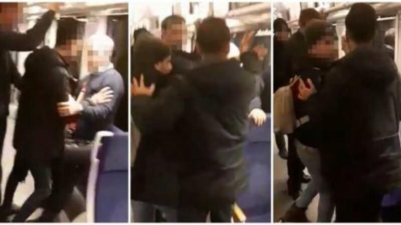 VIDEO. Trei migranţi au încercat să-i jefuiască pe călătorii unui tren pe ruta Timișoara - Baia Mare
