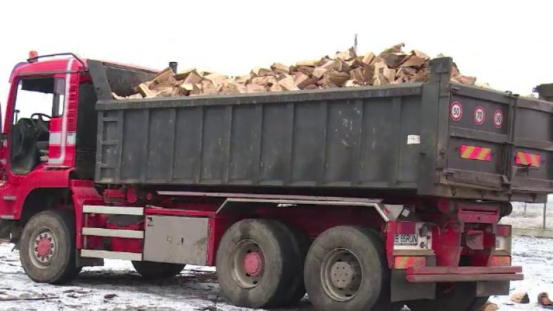 remorca lemne