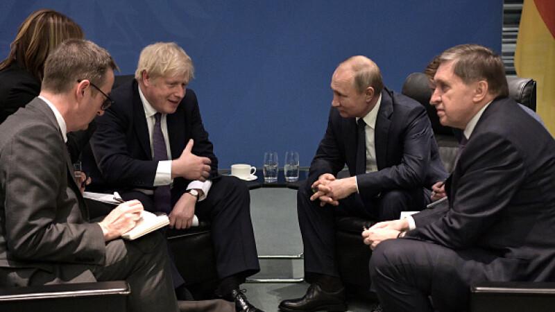 """Boris Johnson, avertisment pentru Putin. Să înceteze """"activitatea destabilizatoare"""""""