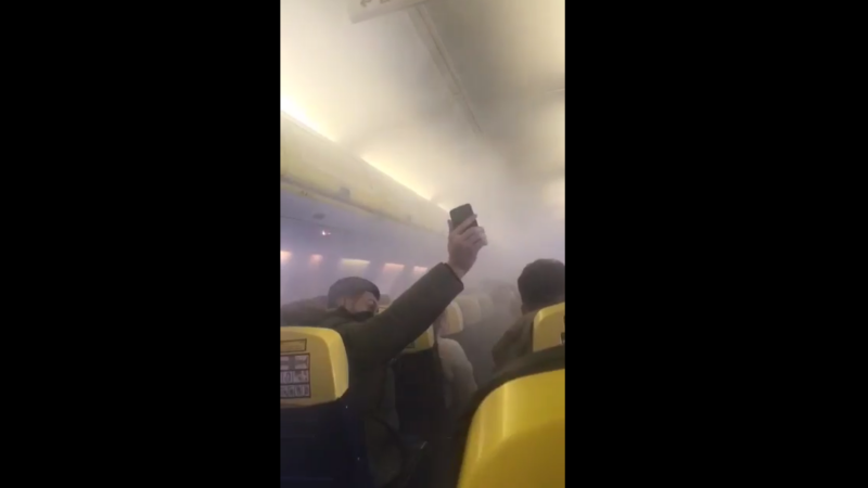 incident fum Ryanair