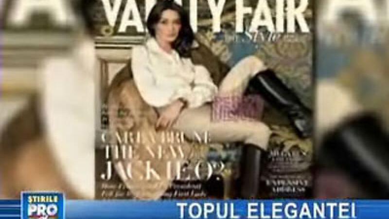Carla Bruni, pe coperta Vanity Fair