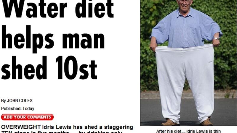 A slabit peste 60 de kilograme, fara sa manance!