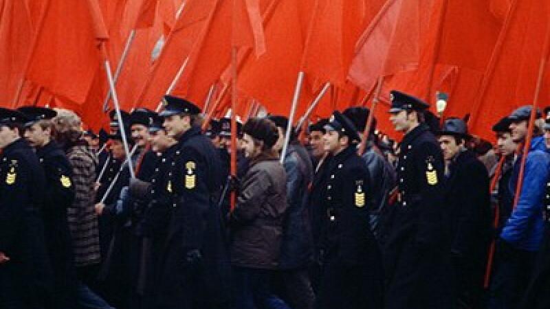 Defilarea turistilor comunisti
