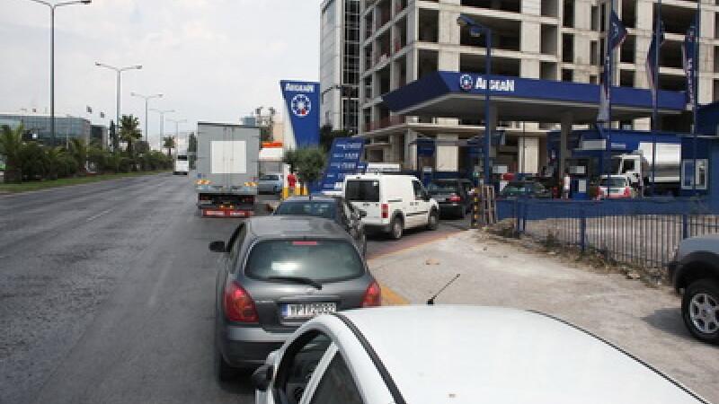 Statie de benzina in Grecia
