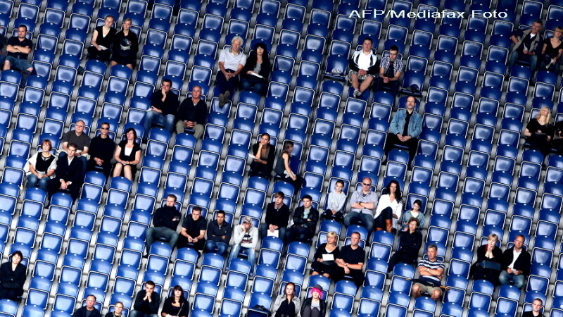 Stadion, tribune, spectatori, suporteri