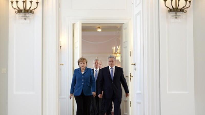 Angela Merkel si Joachim Gauck