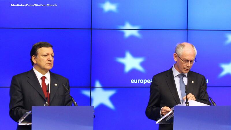 Jose Manuel Barroso (S) si Herman Van Rompuy (D