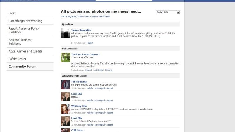facebook eroare