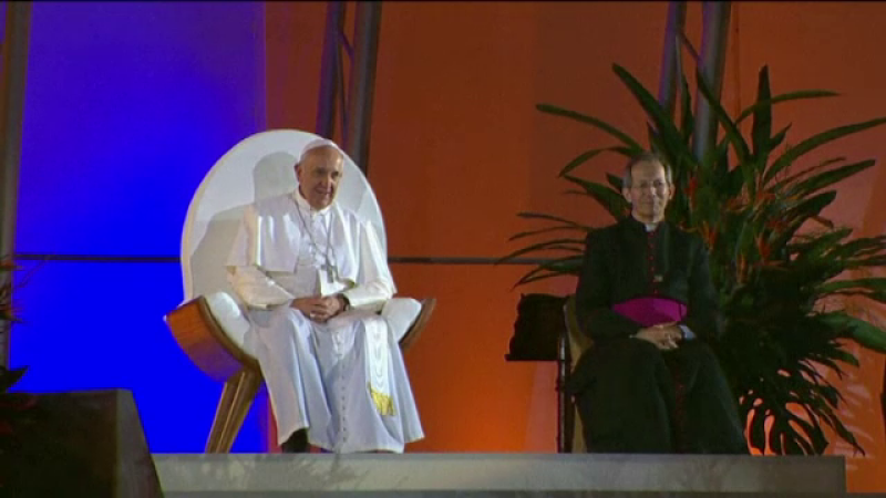 Papa Francisc, slujba in Brazilia
