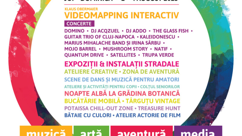Zeci de activitati colorate la prima editie a festivalului Colours of Cluj