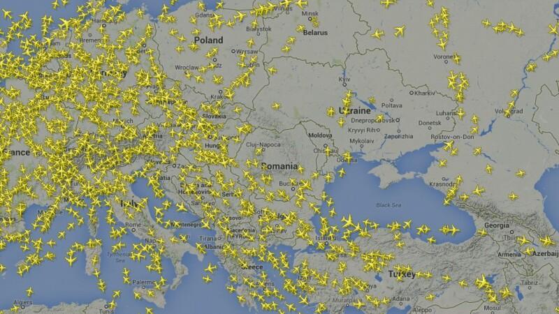 Asia, Romania, zboruri