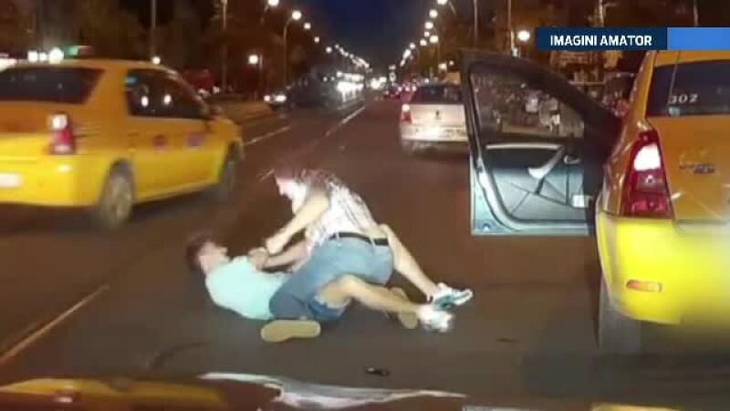 Bataie intre un tanar si un sofer de taxi, in Bucuresti