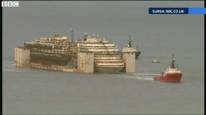 Ultimul voiaj pentru Costa Concordia. Nava a ajuns in portul Genova, unde urmeaza sa fie dezmembrata