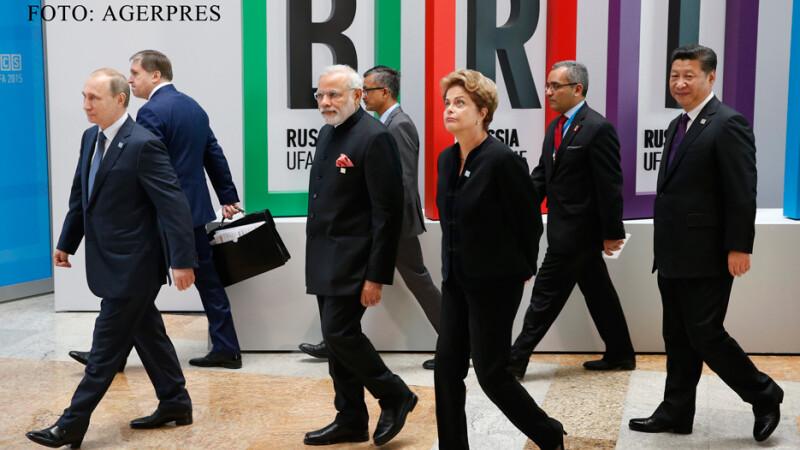 Vladimir Putin, Narendra Mosi si Xi Jinping la suumit-ul BRICS de la UFA