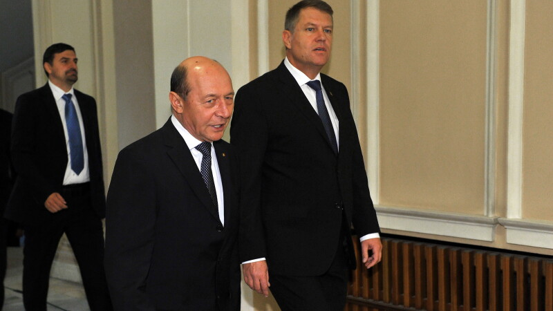 Traian Basescu, Klaus Iohannis - AGERPRES