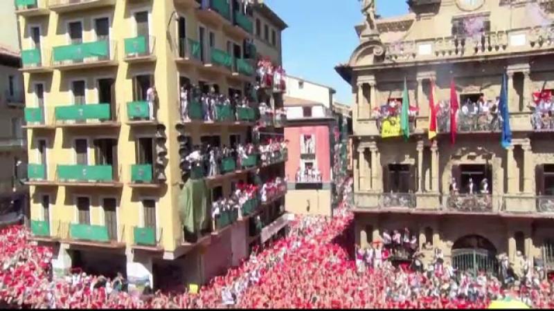 startul festivalului de la Pamplona