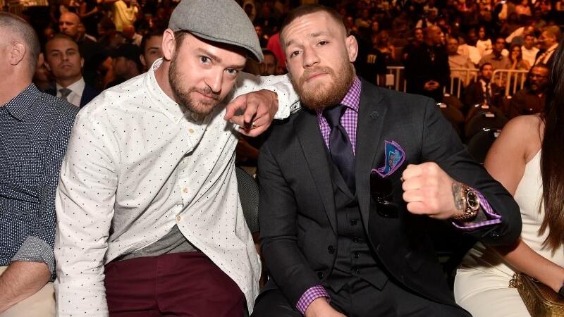 Justin Timberlake si Conor McGregor