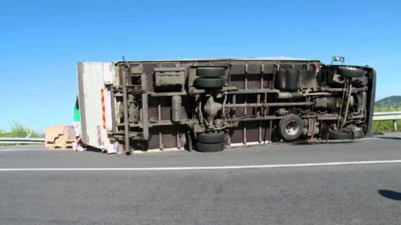 camion rasturnat Bistrita