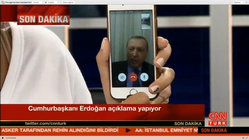 Erdogan pe Face Time