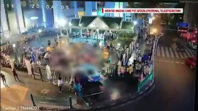 Incident grav in Thailanda. O tanara a intrat cu masina in multime dupa ce a suferit un accident vascular cerebral