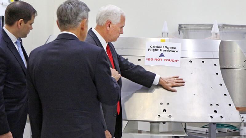 Vicepresedintele american Mike Pence NASA