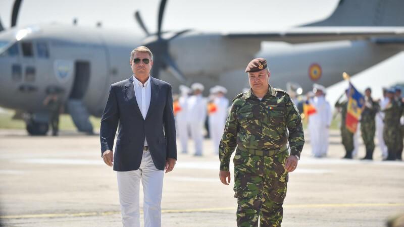Klaus Iohannis la Baza Militara Mihail Kogalniceanu