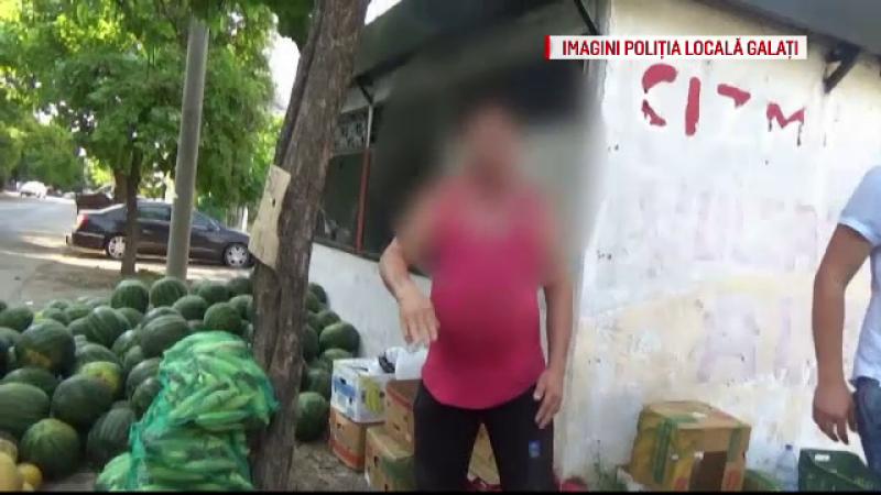 Scandal in Galati, dupa ce politistii au amendat vanzatorii de pepeni: \