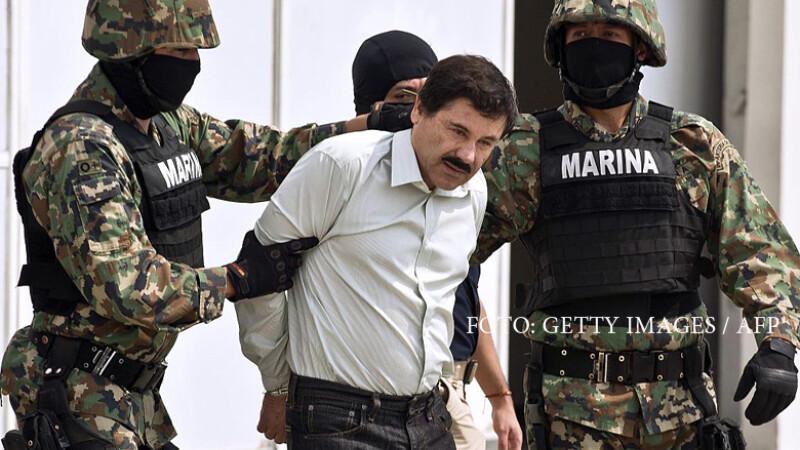 El Chapo, liderul cartelului SInaloa, escortat de puscasi marini