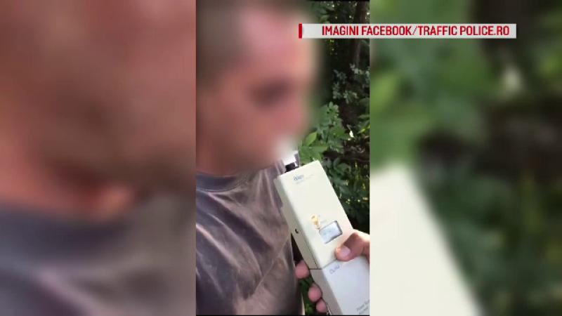 Șofer băut, oprit cu focuri de armă de polițiștii care l-au urmărit prin două județe
