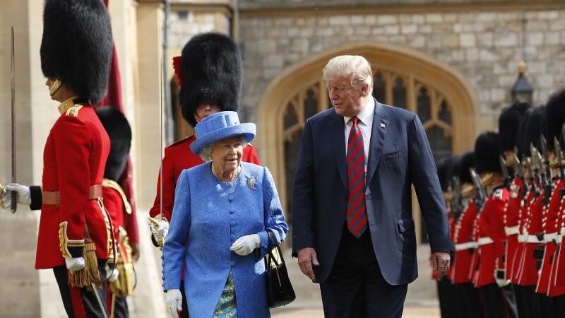 DOnald Trump şi regina Elisabeta a II-a