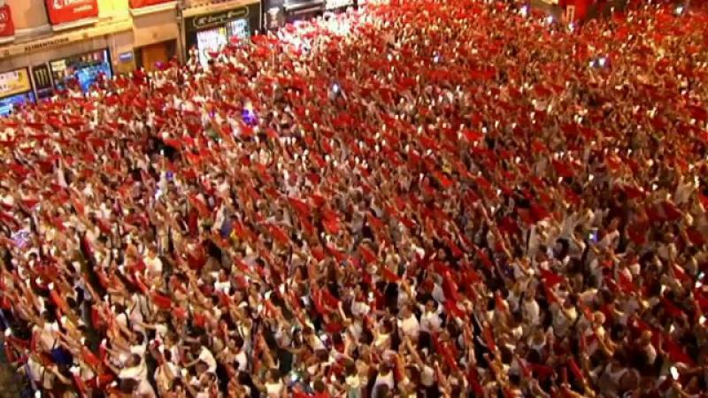 Festivalul de la Pamplona a ajuns la final. Cum au sărbătorit oamenii