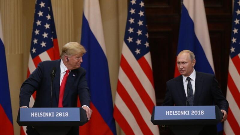 Vladimir Putin și Donald Trump, la Helsinki