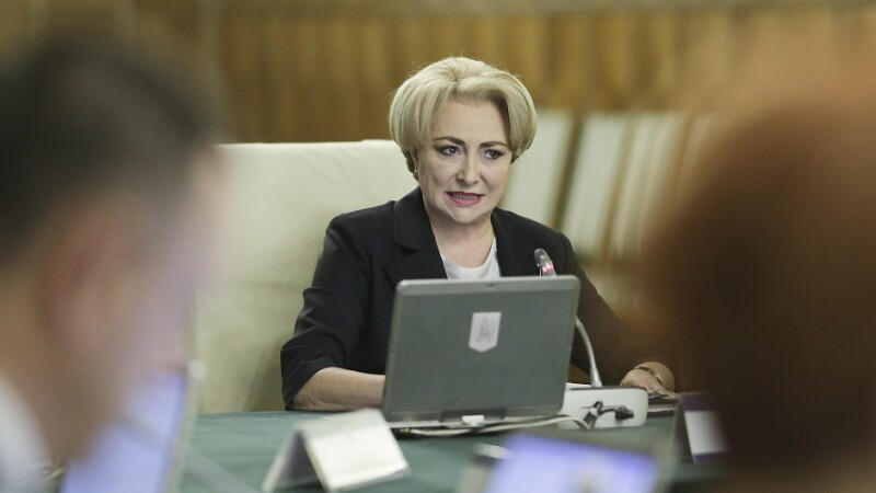 Premierul Vasilica Viorica Dancila la sedinta de guvern