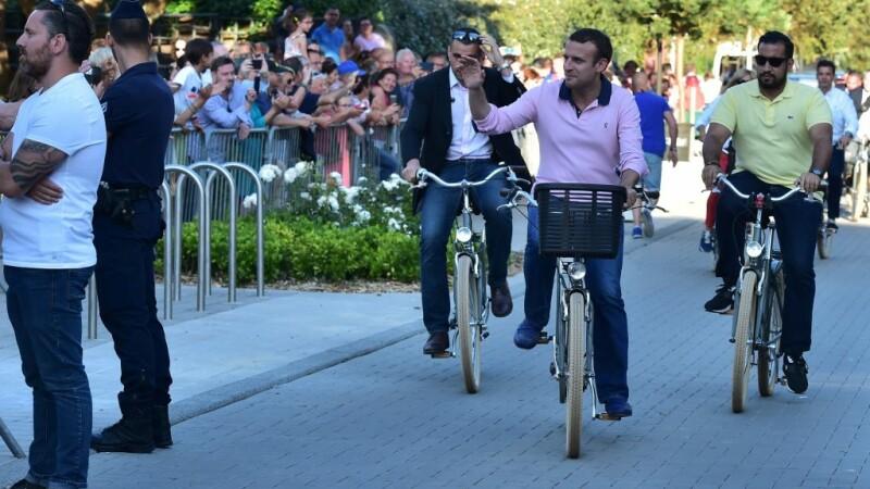 Emmanuel Macron si Alexandre Benalla