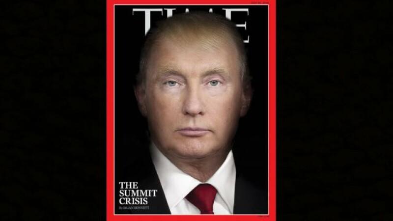Copertă controversată a revistei TIME: Donald Trump se transformă în Putin