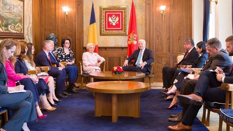 Viorica Dăncilă, gafă în Muntenegru. Guvernul a șters înregistrarea de pe Facebook