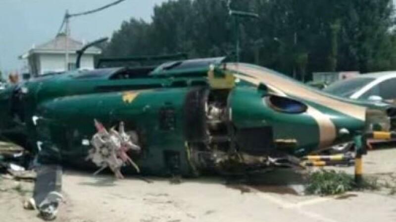Un elicopter s-a prăbuşit în Beijing