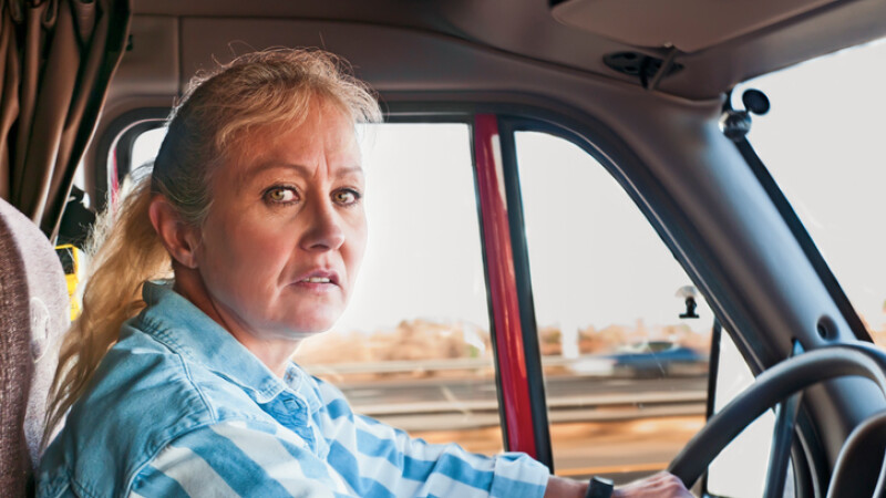 femeie camion ilustratie