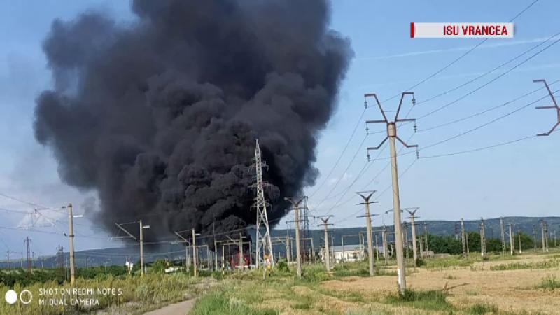 Incendiu de proporții pe calea ferată