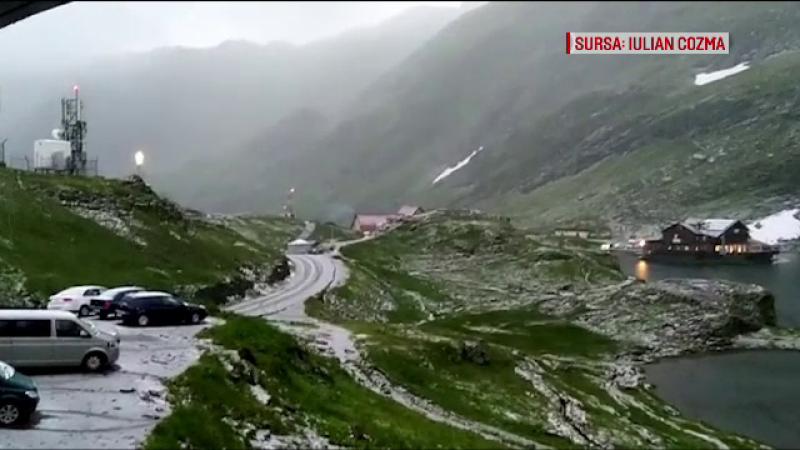 Ciclon deasupra României. Explicația fenomenului neoișnuit care a adus zăpada în iulie
