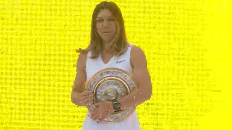 Halep prezintă pe Național Arena trofeul câștigat la Wimbledon