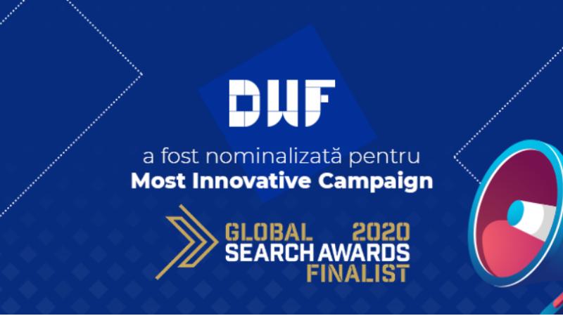 (P) DWF este finalistă la Global Search Awards pentru cea mai inovatoare campanie SEO!