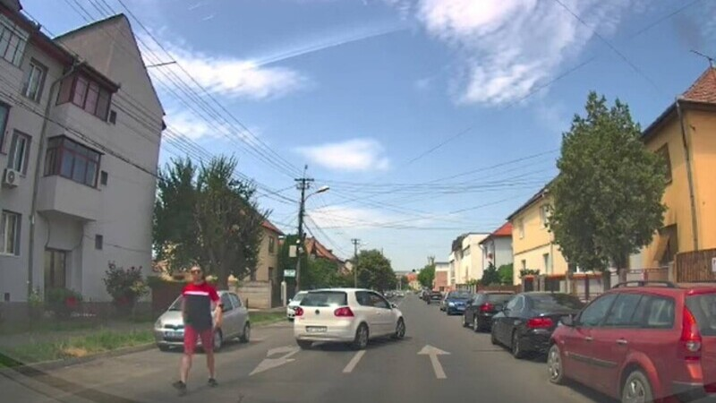 sofer pistol trafic Sibiu