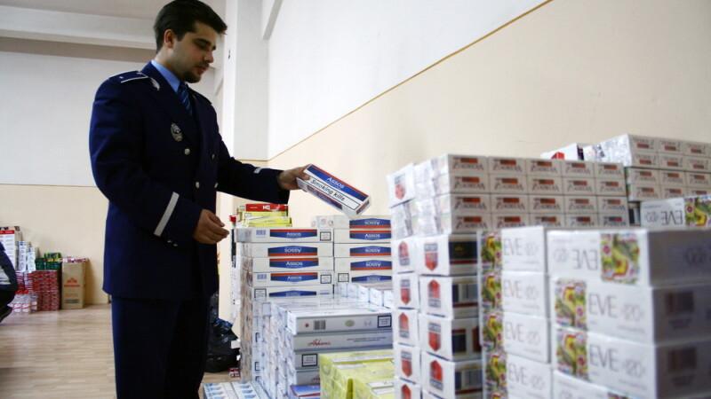 Dupa o urmarire de 6 kilometri, a fost prins de politisti cu peste 1.500 de tigari de contrabanda