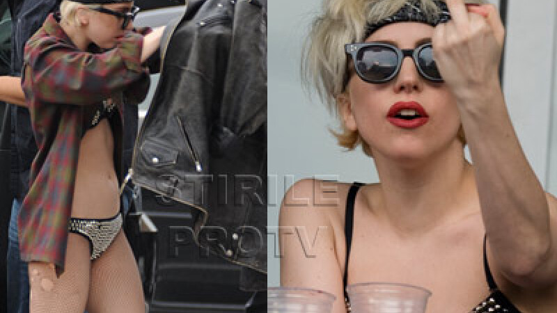 Lady Gaga, in chiloti pe strada, saluta: F**k you!