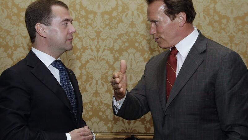 Medvedev si Schwarzenegger