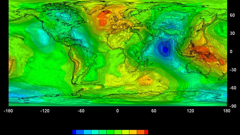 Harta gravitationala a Pamantului