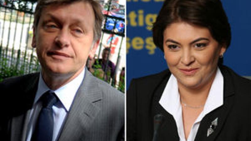 Crin Antonescu si Adina Valean
